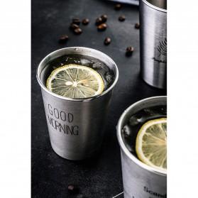 NTE Cangkir Mug Stainless Steel Model Love Grow 500ml - C8781 - Silver - 3