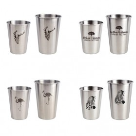 NTE Cangkir Mug Stainless Steel Model Love Grow 500ml - C8781 - Silver - 5
