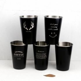 NTE Cangkir Mug Stainless Steel Model Love Grow 500ml - C8781 - Silver - 7