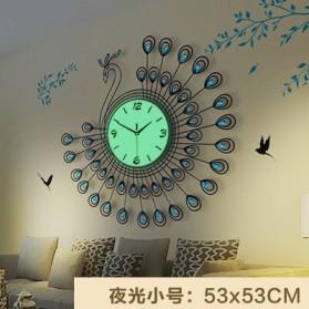 SAFEBET Jam Dinding Bulat Quartz Clock Diamond Peacock 53CM - H19 - Black