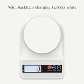 PEGATAH Timbangan Dapur Mini Digital Coffee Scale LCD 5000g 0.1g - SF-4001G - White