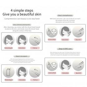YUKUI Pembersih Wajah Elektrik LED Ultrasonic Facial Scrubber -  M22 - Gray Silver - 7