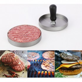 Zeeye Cetakan Daging Burger Meat Patty Maker Press - D0986 - Silver