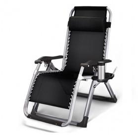 Zero Gravity Kursi Lipat Kerja Folding Picnic Chair with Tray - ZD2101 - Black