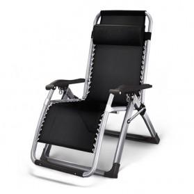 Zero Gravity Kursi Lipat Kerja Folding Picnic Chair - ZD2101 - Black