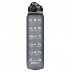 Ronya Botol Minum Plastik Tabung Leakproof Frosted 1000ml - R151 - Gray