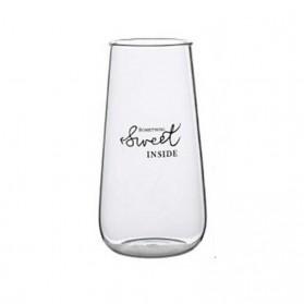 OLOEY Gelas Cangkir Kopi Glass Coffee Mug Sweet Inside 500ml  - 0081 - Transparent