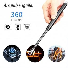 LAGAGIET Korek Api Elektrik Arc Cigar Lighter USB Windproof - JL867 - Black
