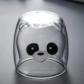 SIBAOLU Gelas Mug Animal Double Wall Layer Cup 270ml - C8785 - Transparent