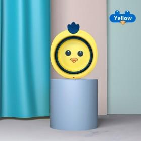 MTWML Baskom Lipat Anak Baby Portable Folding Shower Washing Face Foot Basin - HL-01 - Yellow