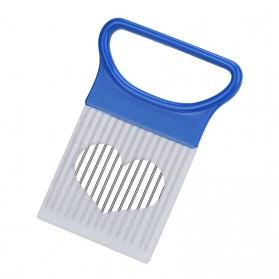 BEEMSK Alat Pengiris Sayuran Onion Slicer Vegetables Cutting Tools - PJ494 - Blue