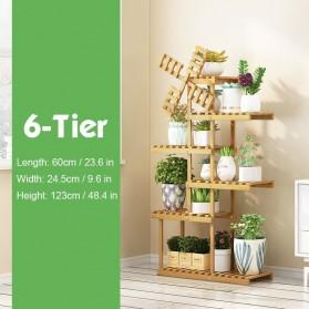 CarpenDIY Rak Tanaman Stand Plant Shelves Organizer 6 Tier - G39379 - Wooden