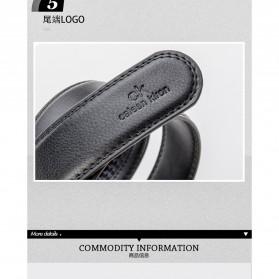 Calesn Klron Tali Ikat Pinggang Kulit Style Korea - BP125 - Black - 4
