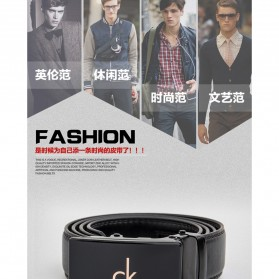 Calesn Klron Tali Ikat Pinggang Kulit Style Korea - BP125 - Black - 8