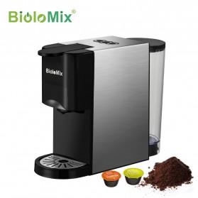 Biolomix Mesin Kopi 3 in 1 Capsule Espresso 19Bar 1450W for Nespresso Dolce Gusto - BK-513 - Black
