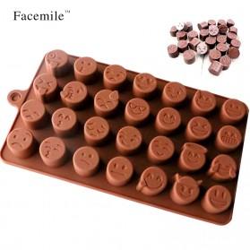 Facemile Cetakan Emoji Kue Coklat Permen Silicone Mold - CH002 - Brown