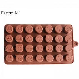 Facemile Cetakan Emoji Kue Coklat Permen Silicone Mold - CH002 - Brown - 2