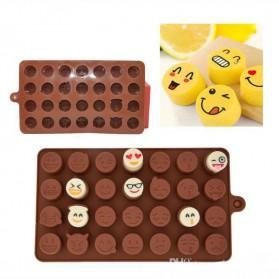 Facemile Cetakan Emoji Kue Coklat Permen Silicone Mold - CH002 - Brown - 3