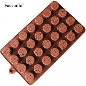 Facemile Cetakan Emoji Kue Coklat Permen Silicone Mold - CH002 - Brown - 4
