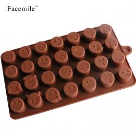Facemile Cetakan Emoji Kue Coklat Permen Silicone Mold - CH002 - Brown - 7