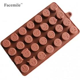 Facemile Cetakan Emoji Kue Coklat Permen Silicone Mold - CH002 - Brown - 8