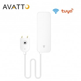 Remote AC / TV Universal - AVATTO Smart Home Sensor Alat Pendeteksi Banjir Kebocoran Air - WS06 - White