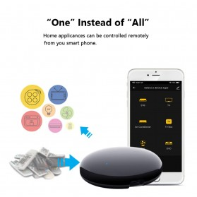 AVATTO Universal Smart Remote Controller WIFI+IR Home Switch - S08 - Black - 3