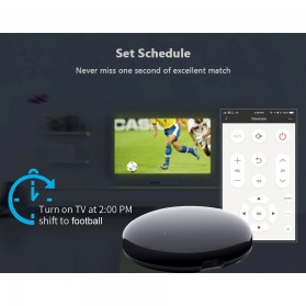 AVATTO Universal Smart Remote Controller WIFI+IR Home Switch - S08 - Black - 9