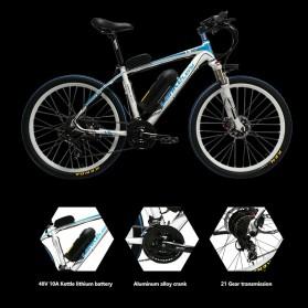 Lankeleisi Sepeda Elektrik MTB Smart Moped XINCHI 48V 10.4AH - T8 - Black/Blue - 6