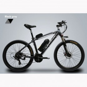 Lankeleisi Sepeda Elektrik MTB Smart Moped XINCHI 48V 10.4AH - T8 - Black/Gray - 2
