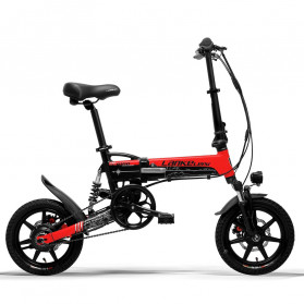 Lankeleisi Sepeda Elektrik Lipat Smart Moped 36V 8.7AH - G100 - Black/Red