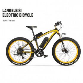 Lankeleisi Sepeda Elektrik Smart Road Bicycle Moped 36V 16AH - XF4000 - Black/Yellow