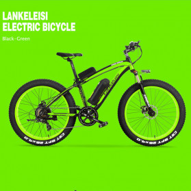 Lankeleisi Sepeda Elektrik Smart Road Bicycle Moped 36V 16AH - XF4000 - Black/Green
