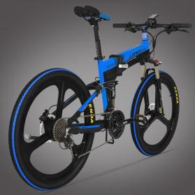 Lankeleisi Sepeda Elektrik Lipat Smart Moped Sports Version 48V 10AH - XT750 - Black/Blue - 2