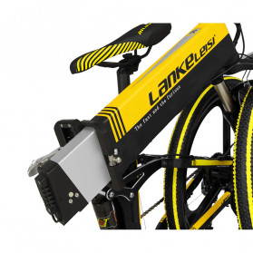 Lankeleisi Sepeda Elektrik Lipat Smart Moped Sports Version 48V 10AH - XT750 - Black/Blue - 6