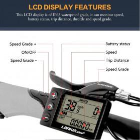 Lankeleisi Sepeda Elektrik Lipat Smart Moped 48V 10AH 1000W - X2000 Plus - Black/Red - 3