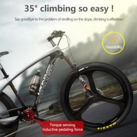 Lankeleisi Sepeda Gunung Elektrik Smart Moped 250W 36V 6.8AH - S600 - Black/Red - 5