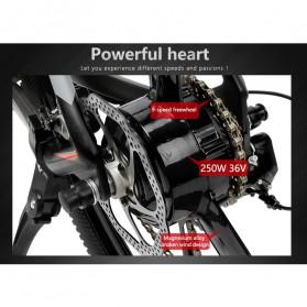 Lankeleisi Sepeda Gunung Elektrik Smart Moped 250W 36V 6.8AH - S600 - Black/Red - 6