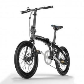 Lankeleisi Sepeda Elektrik Lipat Smart Moped 36V 10Ah 400W - QF600 - Black