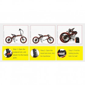 Lankeleisi Sepeda Elektrik Lipat Smart Moped 36V 10Ah 400W - QF600 - Black - 4