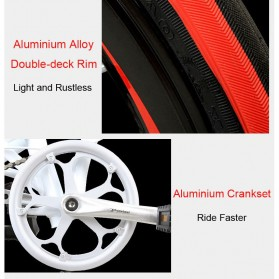 Lankeleisi Sepeda Elektrik Lipat Smart Moped 36V 10Ah 400W - QF600 - Black - 7