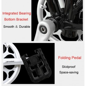 Lankeleisi Sepeda Elektrik Lipat Smart Moped 36V 10Ah 400W - QF600 - Black - 8