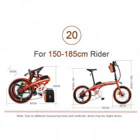 Lankeleisi Sepeda Elektrik Lipat Smart Moped 36V 10Ah 400W - QF600 - Black - 10