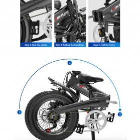 Lankeleisi Sepeda Elektrik Lipat Smart Moped Lite Edition 48V 8.7AH - G660 - Black/Gray - 3