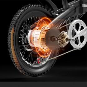 Lankeleisi Sepeda Elektrik Lipat Smart Moped Lite Edition 48V 8.7AH - G660 - Black/Gray - 5