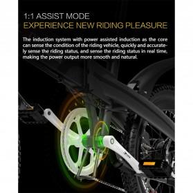 Lankeleisi Sepeda Elektrik Lipat Smart Moped Lite Edition 48V 8.7AH - G660 - Black/Gray - 6