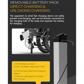 Lankeleisi Sepeda Elektrik Lipat Smart Moped Lite Edition 48V 8.7AH - G660 - Black/Gray - 7