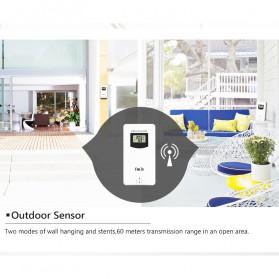 FanJu Jam Alarm LED Colorful Thermometer Forecast Weather - FJ3373 - Brown - 10