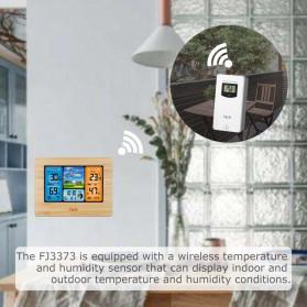 FanJu Jam Alarm LED Colorful Thermometer Forecast Weather - FJ3373 - Brown - 3