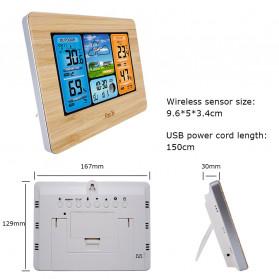 FanJu Jam Alarm LED Colorful Thermometer Forecast Weather - FJ3373 - Brown - 5